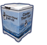 Penguin Brand Dry Ice merchandiser box