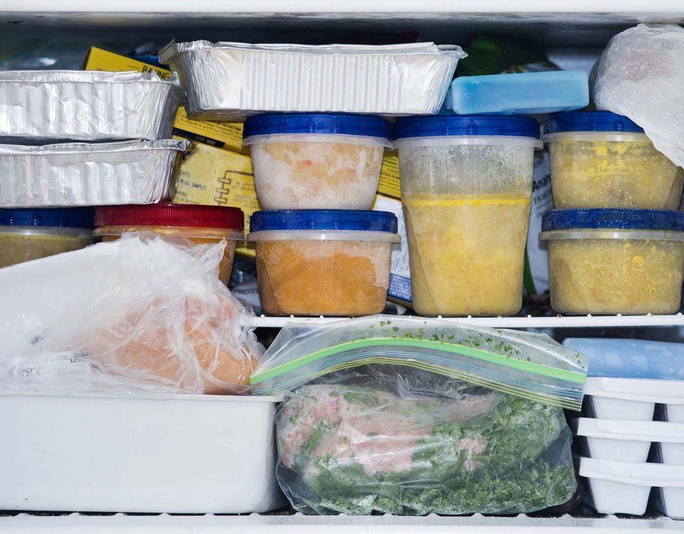 Use dry ice to preserve cooled and frozen food during a power outage.