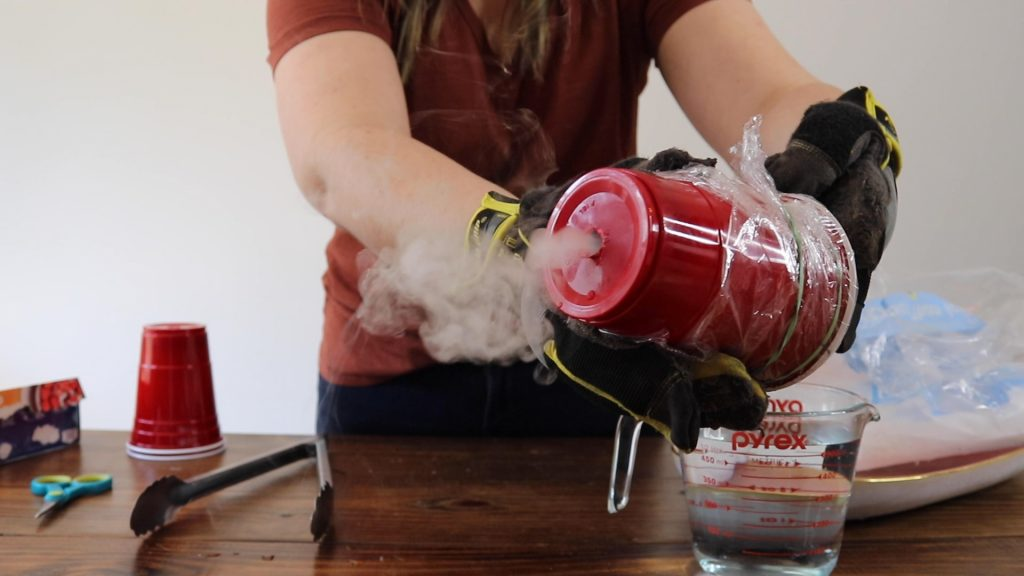 Making Fog Puffs with Dry Ice